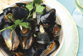 Big Steamy Bowl of Shells SurfCafe Mussels
